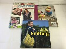 3x Knitting & Crochet Books Up-Cycle Clothes 30 Accessories Projects for Home