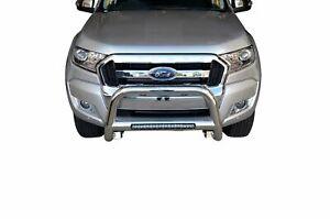 "Chrome Nudge Bar S/S 304 3"" LED Light Bumper Guard for Ford Ranger 11-18 PX1 PX2"