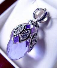 SALE !  GOREGEOUS RUSSIAN ENAMEL EGG PENDANT STERLING SILVER 925 with AMETHYST