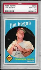 1959 TOPPS #372 JIM HEGAN PSA 8 NM-MT PHILADELPHIA PHILLIES