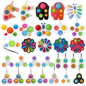 Simple Dimple Push Pop It Bubble Stress Relief Sensory Autism Fidget Spinner UK