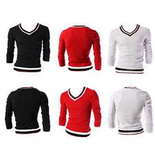 Unbranded V Neck Striped T-Shirts for Men