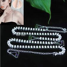 Handy Double Rows Crystal Diamante Rhinestone Bra Shoulder Girdle Straps Belt