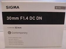 Brand NEW  Sigma 30mm F1.4 DC DN Comtemporary Lens for Micro Four Thirds Cameras