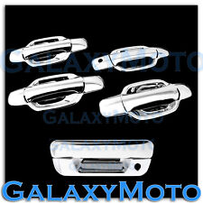 05-12 Chevy Colorado Triple Chrome 4 Door+NO PSG Keyhole+Tailgate Handle Cover