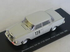 Spark S1004 - MERCEDES W112 220 SE N°128 Vainqueur Monte Carlo 1960 Schock  Moll