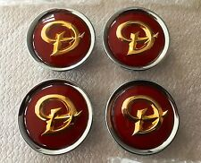 Genuine jaguar daimler alloy wheel centre cap badges new ruby/or MNA6249DB