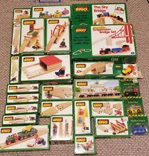 Lot of 27 Vintage BRIO Wooden Train Sets in Original Boxes - Compatible w Thomas