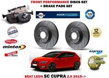 FOR SEAT LEON SC ST 2.0 CUPRA 2013> FRONT PERFORMANCE BRAKE DISCS SET + PADS KIT