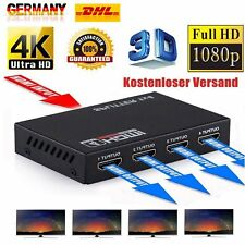 Full HD 1080P 4K 1In 4Out Verstärker HDMI Splitter 1x4 Fach Schalter für 3D HDTV