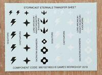 Stormcast Eternals Transfer Sheet - Warhammer Age of Sigmar - AoS