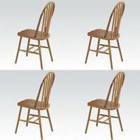 Nostalgia Dining Side Chairs in Oak 4 Piece Side Chairs Dining room Chairs NEW