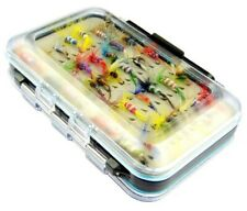 trout salmon fly fishing flies assortment tackle box with 64 fly fishing flies