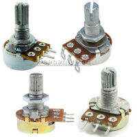 2/5/10PCS B500K /50K/1K Ohm 3 Pins Shaft Linear Rotary Taper Potentiometer WH148