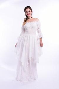 Victorian Medieval Renaissance Cotton Multicolor Long Rococo Dress Fancy Costume