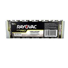 Rayovac 9V Alkaline Ultra Pro Batteries, AL-9V (6 Batteries)