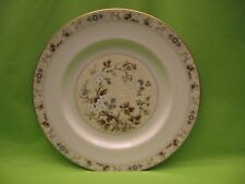 """Royal Doulton"" Plate w/Floral ""Mandalay"" Pattern - Ivory w/Blue & White Flowers"