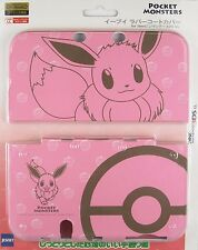 New Nintendo 3DS LL XL Pokemon Eevee Rubber Coat Case Cover JAPAN