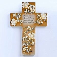 Someone We Love In Heaven 8 inch Embossed Resin Stone Inspirational Wall Cross