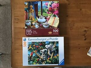 Two 500 pc jigsaw puzzles. Koala bears & time for tea both lovely to do