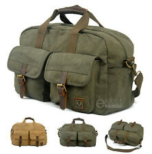 Canvas Travel Sports Weekend Hiking Shoulder Luggage Carry on Messenger Gym Bag