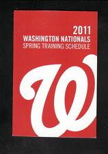 Washington Nationals--2011 Spring Training Pocket Schedule-Florida Business Bank