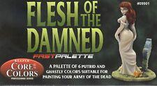 Reaper Fast Palette Paint Set: Flesh of the Damned - Undead Skintones (6)