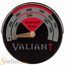 Valiant Magnetic Stove Thermometer Burner BBQ Range Flue Pipe Gauge Up To 425°