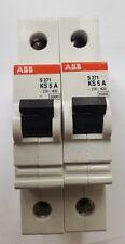 LOT OF 2 ABB S 271 KS5A SINGLE POLE MCB (R3S8.5B2)