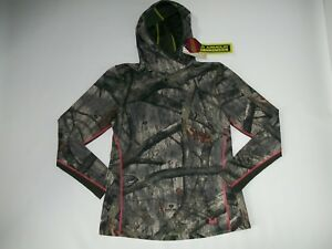 UNDER ARMOUR Coldgear MOSSY OAK CAMO Hooded EVO Hunting SHIRT Womens Size XL NEW