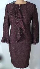 NWT ST. JOHN Knits Metallic Heathered Jacket Blazer Skirt Suit sz 10 $1990