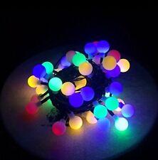7m  LED Solar Lichterkette mit 50 Kugeln Lichterkette Innen & Außen Warmweiß RGB