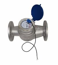 "NEW PRM 2"" FLANGED (150#) 304 STAINLESS STEEL MULTI-JET WATER METER W/PULSE NIB"