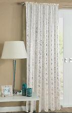 Glitter Shimmer Chic Voile Panel / Net Curtain Slot Top Panel Black Red White