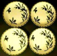 WILLIAMS-SONOMA LIGURIA OLIVE INDIVIDUAL PASTA BOWL SET OF 4 MADE IN PORTUGAL