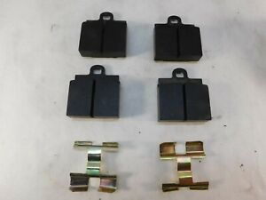 VW Volkswagen Bug &  Karmann Ghia 1-hole Brake Pads Kit   with Clips   Old Stock