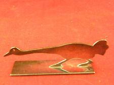 Repose Couteau Animalier en Argent Plaqué Yorel France Silver Silber Oie