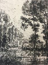 Lagolais Estampe sur papier vergé XIXem Saint-Germain-sur-Morin L'Art