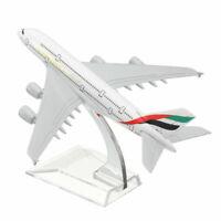 A380 EMIRATES Plane Model 6.3 inch Metal Aircraft Desk Toy Aeroplane