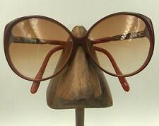 Vintage Viva Moda L-81 BR Burgundy Orange Oval Butterfly Sunglasses Frames Italy