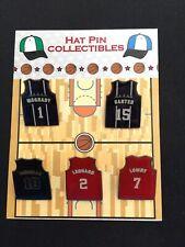 Toronto Raptors Kawhi Leonard & more jersey lapel pins-(5)-Free Ship-Team STARS