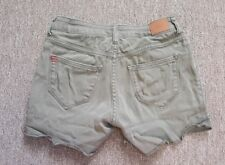 BDG URBAN OUTFITTERS Army Green Denim Shorts Jean Shorts MID RISE ALEXA Size 25