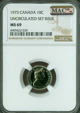 1973 CANADA 10 CENTS NGC MAC MS-69 PQ FINEST GRADE SPOTLESS *