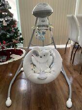 Fisher-Price Drg43 Sweet Snugapuppy Dreams Cradle 'N Swing - White