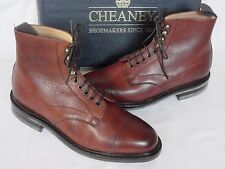 NEW Joseph Cheaney Mahogany Brown Calf Leather Lace Up Boots UK 9 ALL SIZES