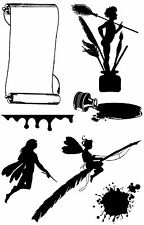 Unmounted rubber stamp sheet Silhouette Inky Fairies - SA-5018