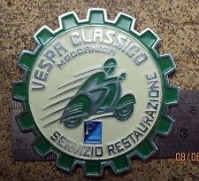 VESPA PLACCA BADGE euro VESPA CLASSICO MECCANICA SERVIZIO RESTAURAZIONE plakette
