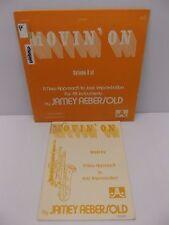 """Jamey Abersold """"Movin' On"""" Instructional Play Along Jazz Improvisation Vinyl LP"""
