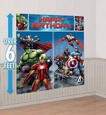 AVENGERS BIRTHDAY PARTY SUPPLIES SCENE SETTER WALL POSTER DECORATIONS
