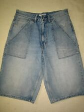 Levis Altered Big Loose, denim shorts.  Heavy factory fade, great patina. 32W